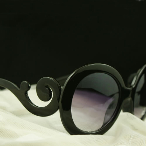 European Styles Weave Embellished Black PC Sunglasses