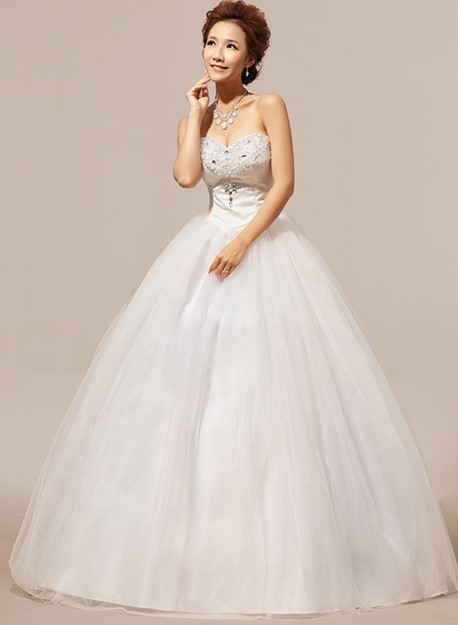 Elegant Diamond Embellished Strapless Off The Shoulder