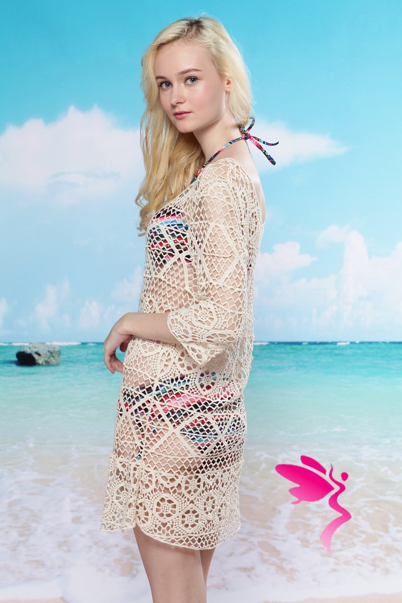 Вязанная туника для пляжа доставка