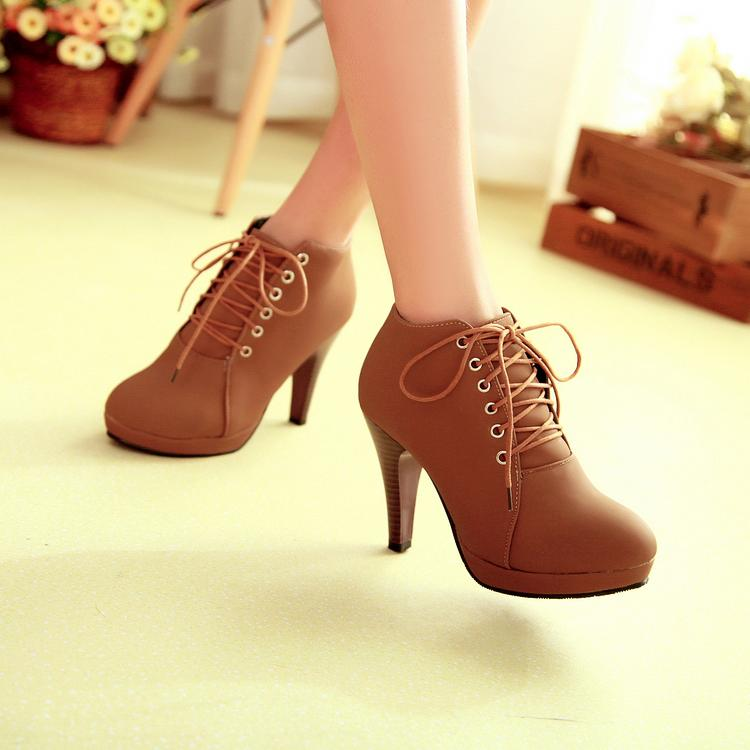autumn toe stiletto high heel lace up ankle