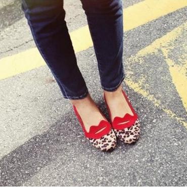 Cheap Fashion Shoes Under 10.00 Red PU Flat USD
