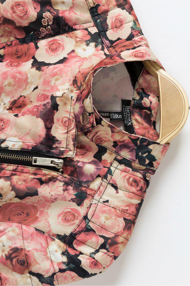 New Style Turndown Collar Long Sleeve Zipper Regular Cotton Coat
