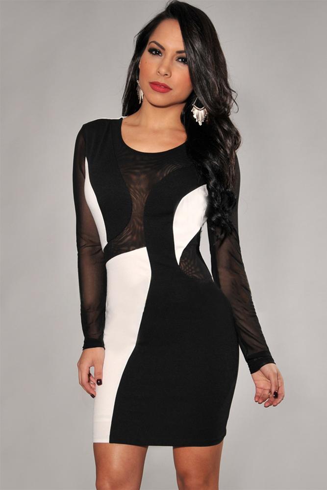Черно Белое Платье С Доставкой