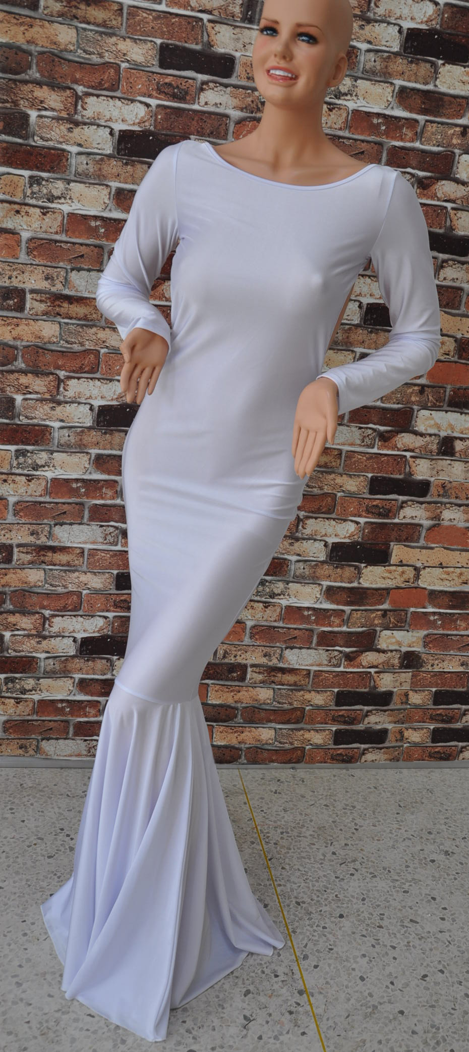 Cheap Sexy White Dress Mermaid Floor Dresses