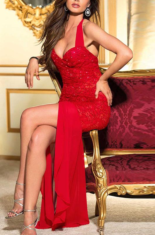 Красном длинном платье порно 80077 фотография