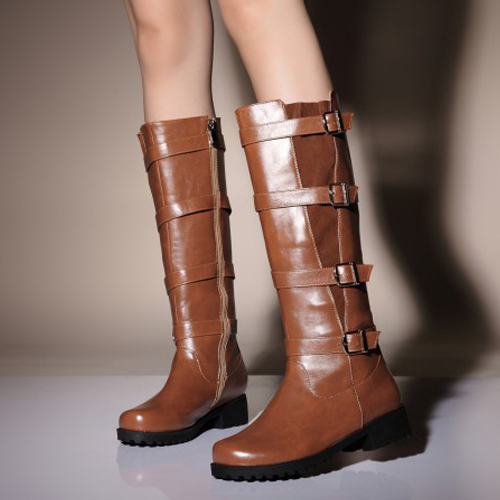 cheap winter fashion toe zipper design buckles