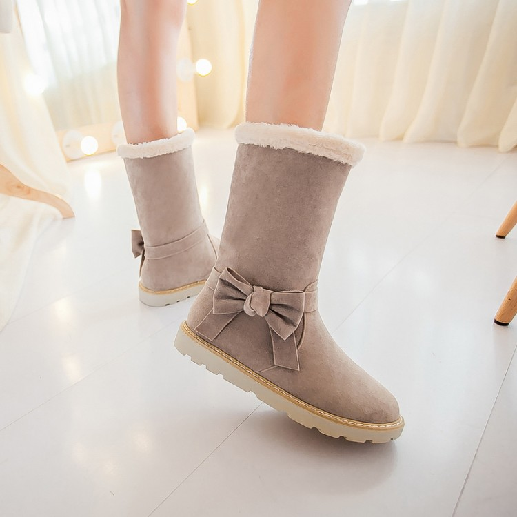 cheap winter fashion toe bow tie design slip on flat