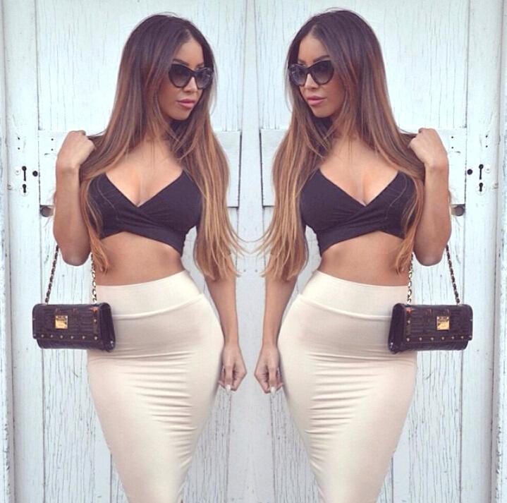 Cheap Sexy V Neck Half Sleeves Polyester Sheath Knee Length Skirt ...