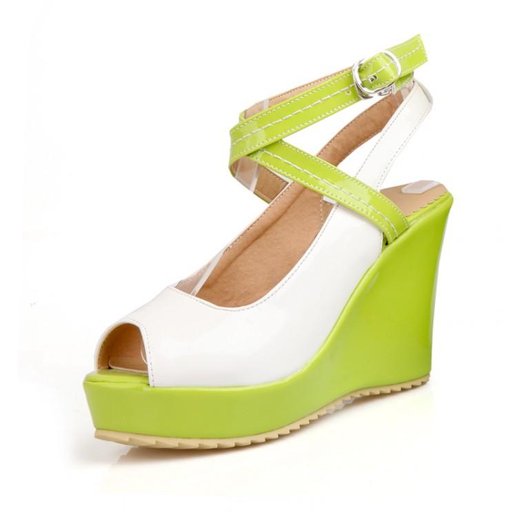 cheap fashion peep toe platform wedge high heel