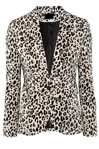 Sexy Leopard Polyester Blazer