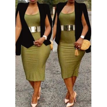 Fashion Asymmetrical Black Polyester Blazer