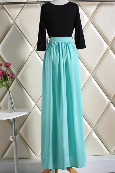 Blue Top Black Bottom Dresses