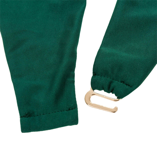 Sexy Halter mit V-Ausschnitt Lace-up Hohle-heraus Grün Nylon One-Piece Bademode