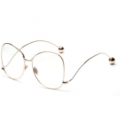 Fashion Iron Shot Decorative Gold Metal Sunglasses