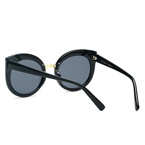 Stylish Cat's Eye Frame Design Black PC Sunglasses