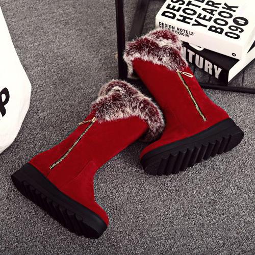Botas redondas con estilo de la cremallera del dedo del pie del diseño bajo de la cremallera del dedo del pie