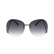 Stylish Rimless Grey PC Sunglasses