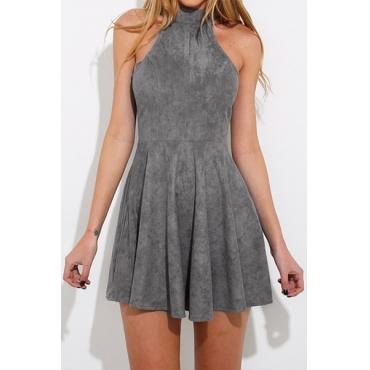Velvet Sleeveless Mini Dresses