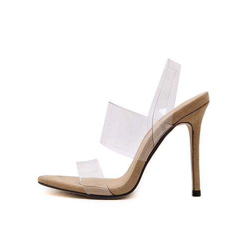 PU Stiletto Sandalias Super Alta Moda