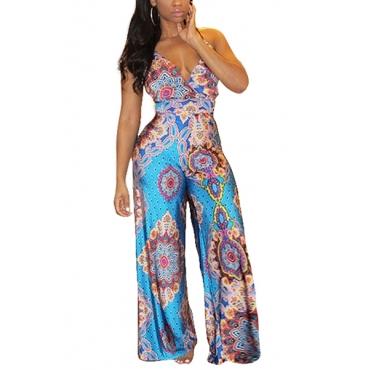 Polyester Print Regular Jumpsuits