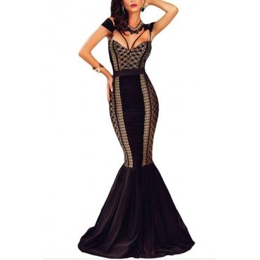 Healthy Fabric Sexy V Neck Sleeveless Sheath Floor length Dresses