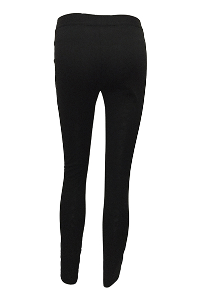 Cotton Blends Solid High Leggings