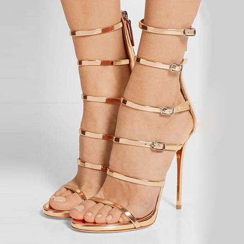 ПУ Стилет Супер Высокая мода Гладиатор сандалии