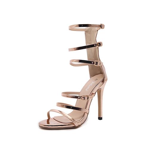 Sandalias de la PU del estilete Super High Fashion Gladiador