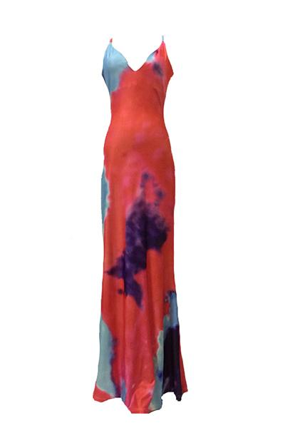 Vestidos de la longitud de poliéster sin mangas atractivo del V cuello del tobillo