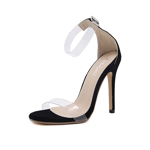 Сандалии Suede Stiletto Супер высокой моды