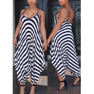 Qmilch Striped Loose Jumpsuits