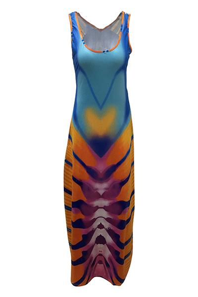Qmilch Moda U Neck Sleeveless A Line Vestidos