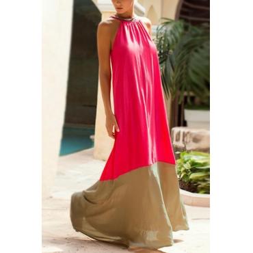 Blending Fashion O neck Sleeveless Ankle Length Dresses