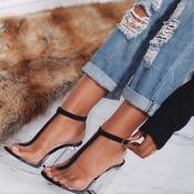 Пластмассовые короткие высокие сандалии высокой моды