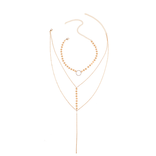 Fashion Hollow-out Gold Metal Necklace