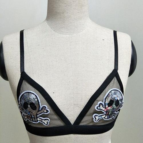 Sexy See-Through Black Spandex Bra