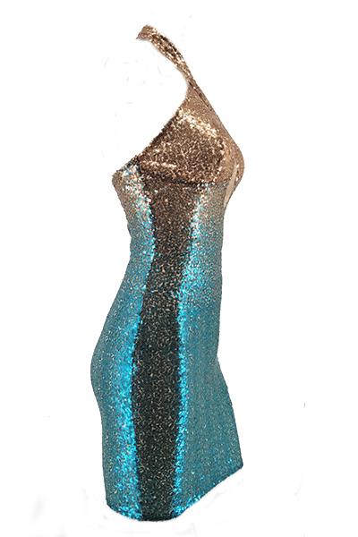 Euramerican Sequined decorativo abito da ginnastica guaina