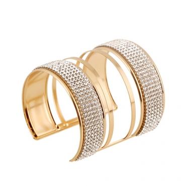 Fashion Rhinestone Decorative Gold Metal Bracelet(Only Sell A)