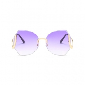 Fashion Purple Metal Sunglasses